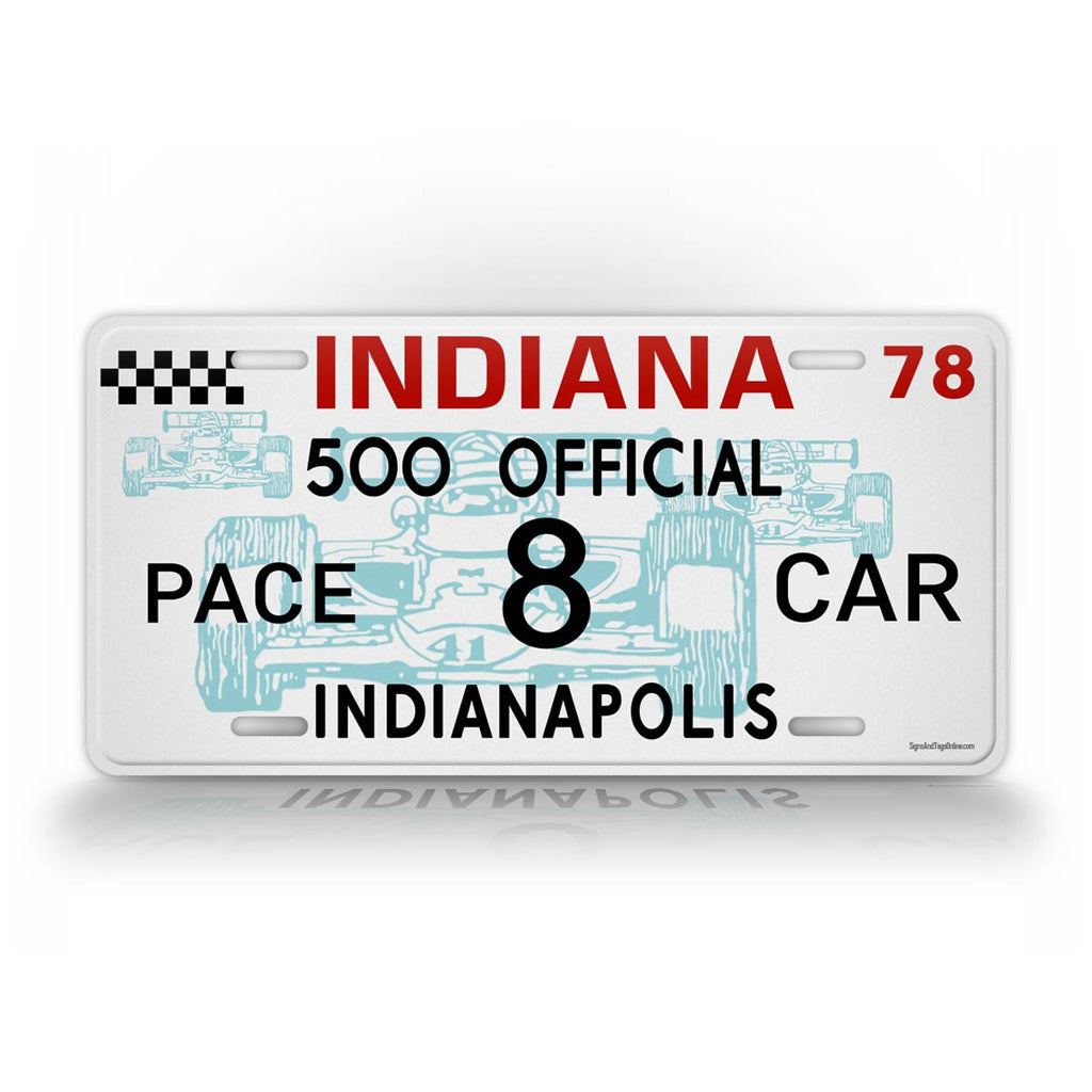 Personalized Indy 500 Custom License Plate