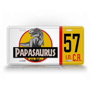 Custom Jurassic World Park Papasaurus Jeep License Plate