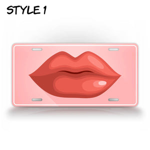 Hot Kissing Lips License Plate