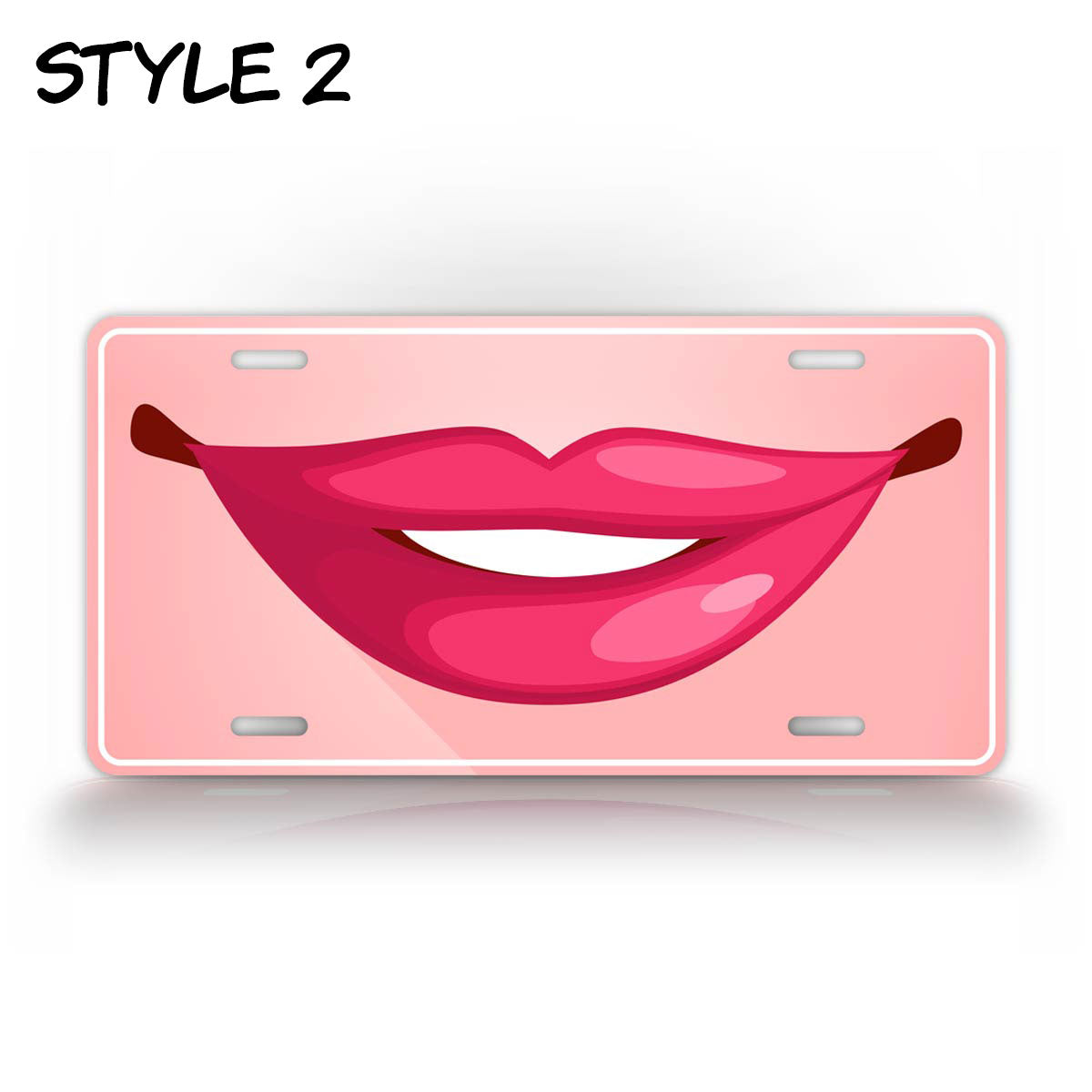 Hot Smiling Lips License Plate