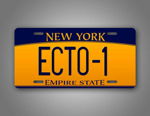 Ghost Busters New York License Plate Ecto-1 Auto Tag