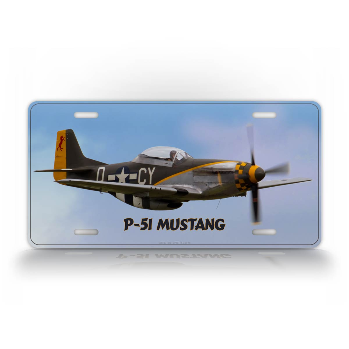 P-51 Mustang WWII Airplane License Plate
