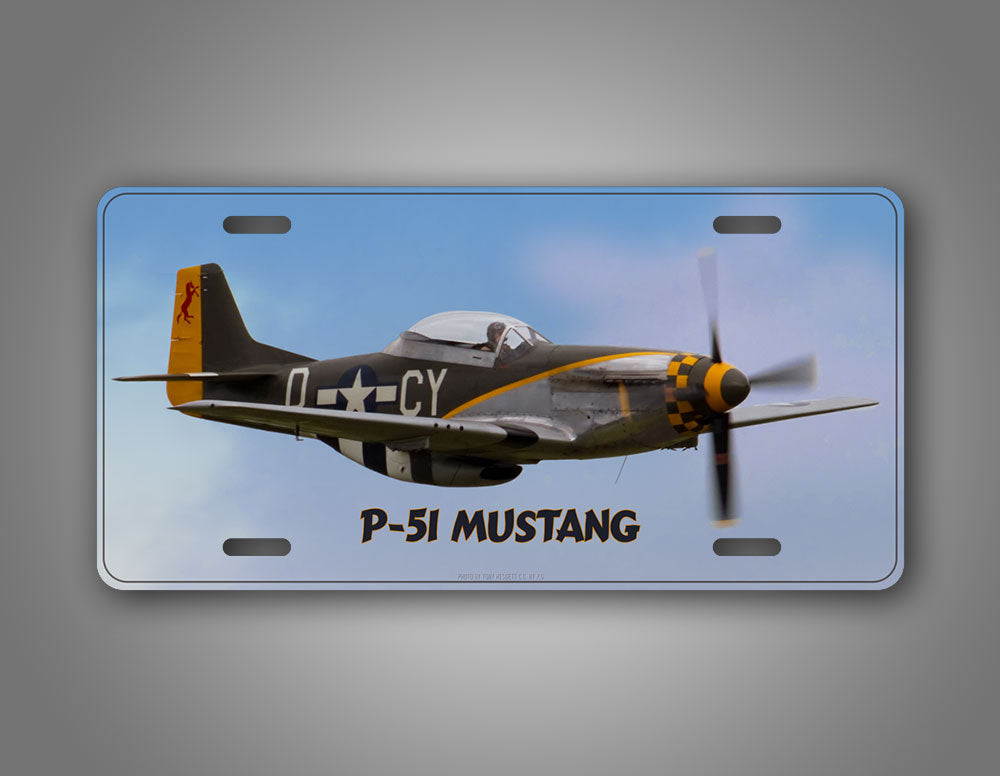 P-51 Mustang WWII Airplane Auto Tag