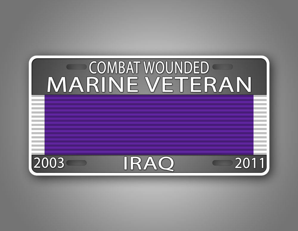 Personalized Combat Wounded Veteran License Plate