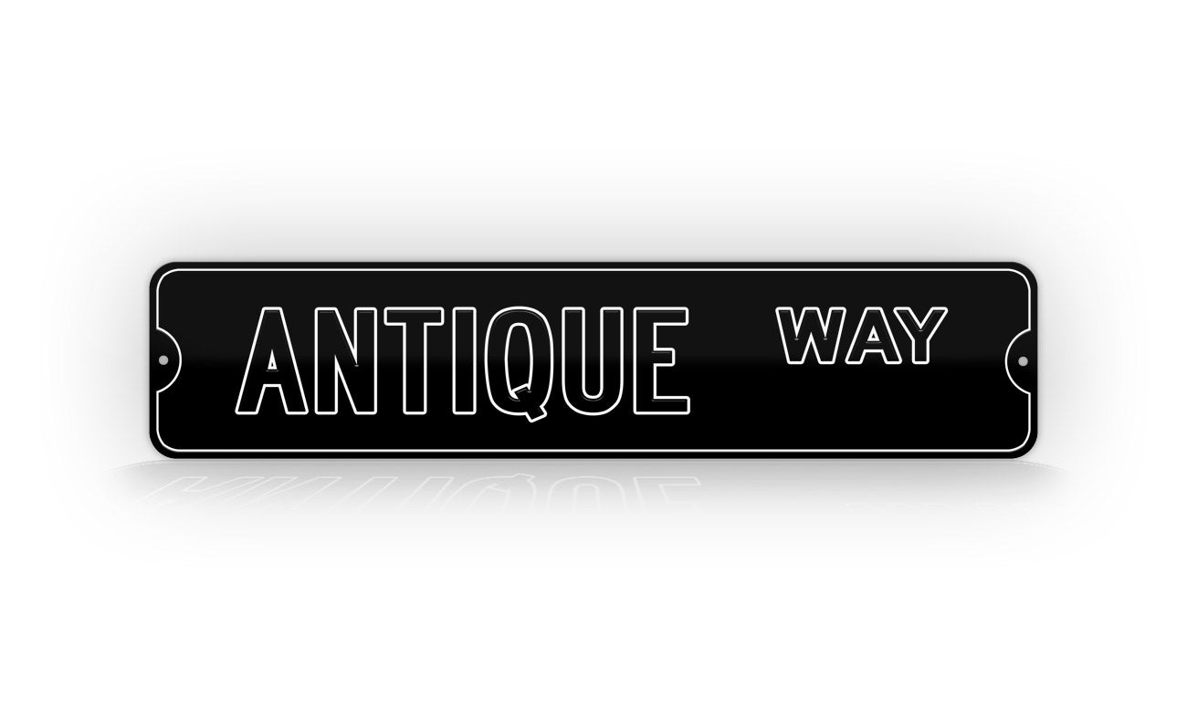 Personalized Custom Inverted Black And White Street Sign