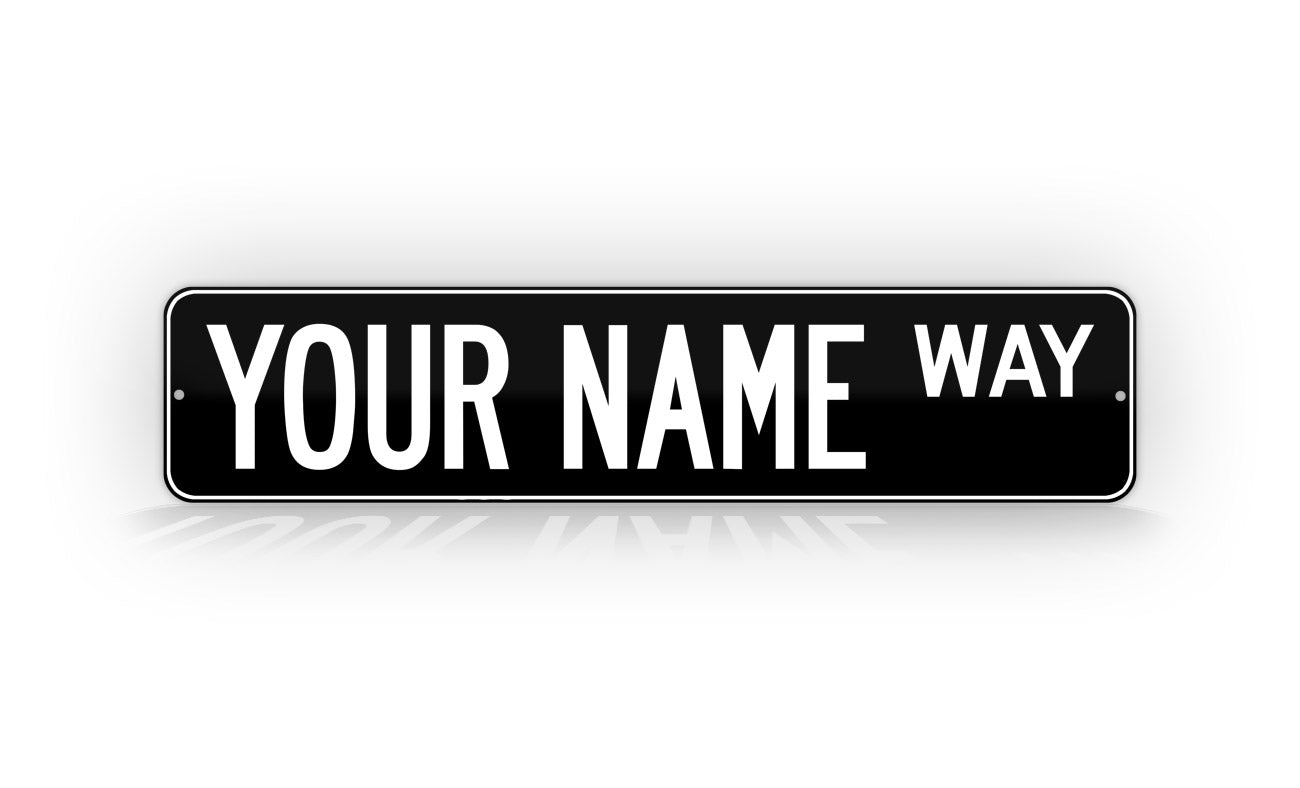 Personalized Custom Black Street Sign