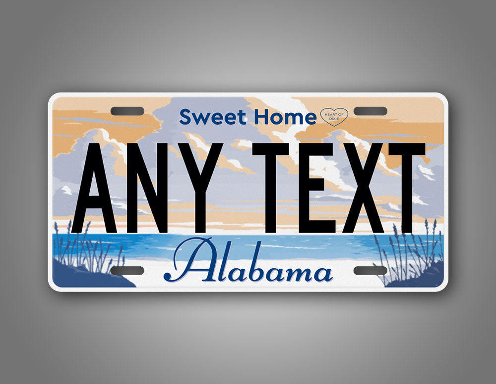 Personalized Text Alabama Home Sweet Home License Plate