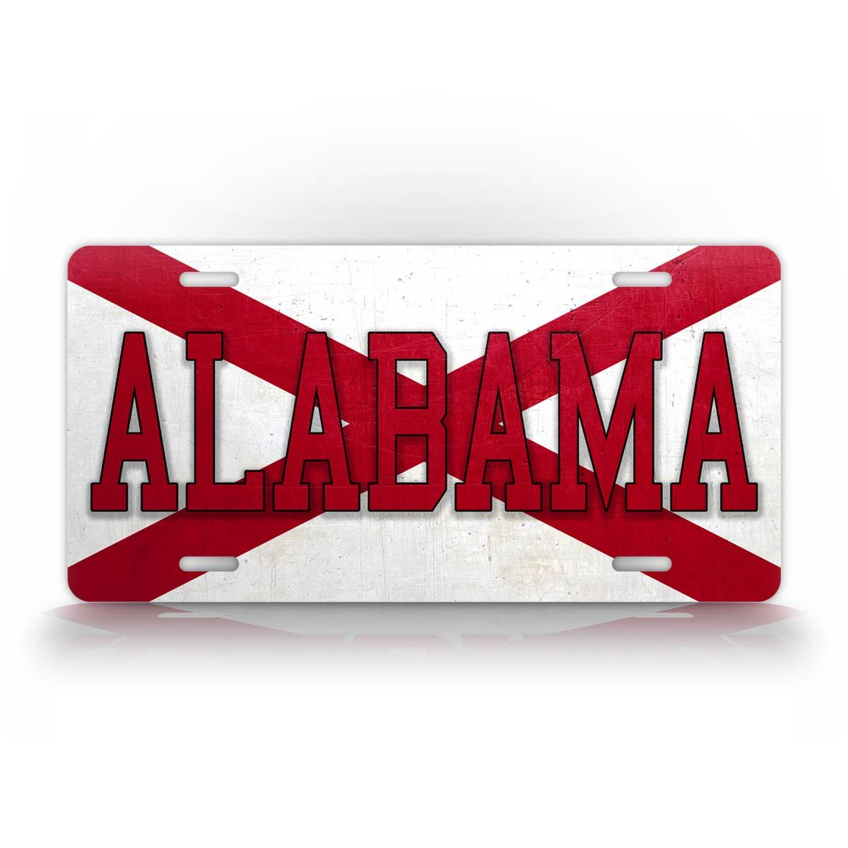Alabama State Flag License Plate