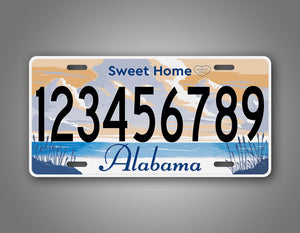 Any Text Alabama State License Plate Auto Tag