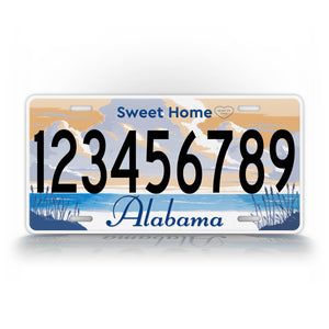 Custom Text Alabama Home Sweet Home License Plate