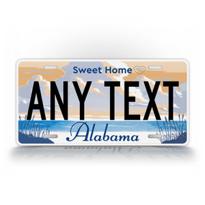 Any Text Alabama Home Sweet Home License Plate