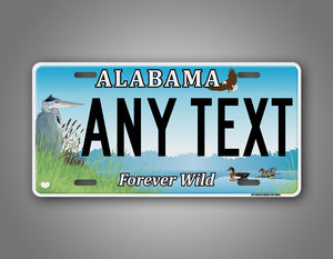 Any Text Custom Alabama Forever Wild License Plate