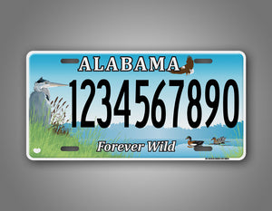 Custom Text Alabama Forever Wild Novelty Auto Tag
