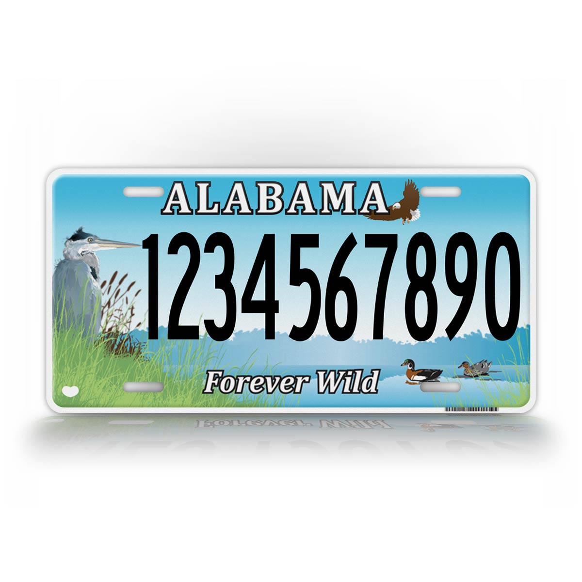 Personalized Novelty Alabama Forever Wild Auto Tag