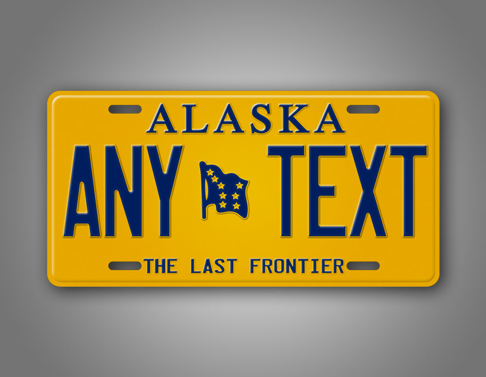 Any Text Personalized Alaska State Auto Tag