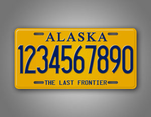 Personalized Alaska State License Plate