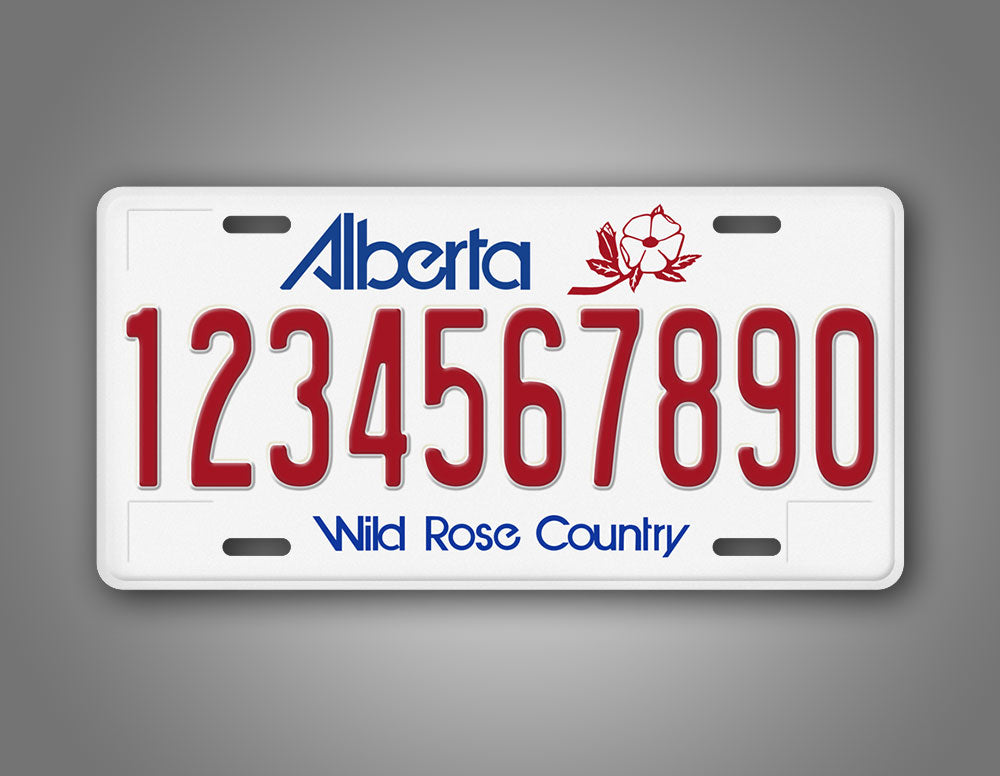 Alberta Canada Wild Rose Country Personalized License Plate