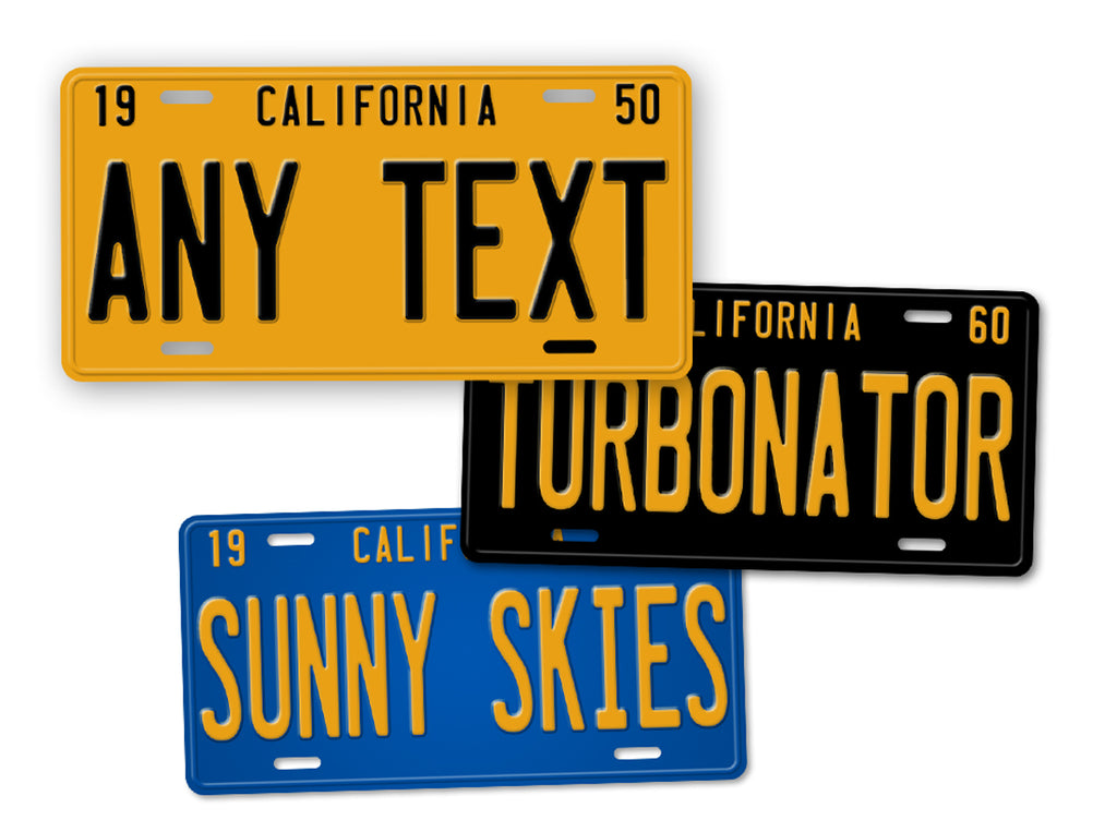 1950s 1960s 1970s California Custom Vintage License Plate