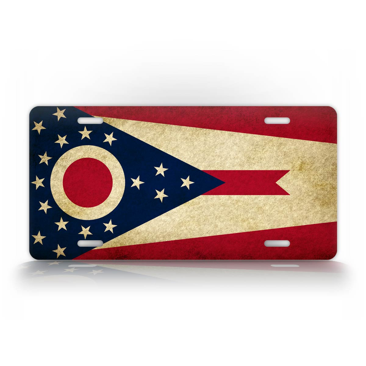 Americana Ohio State Flag License Plate