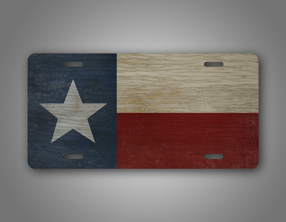 Americana Style Texas State Flag License Plate