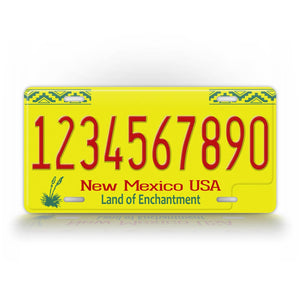 Custom Text Novelty New Mexico License Plate
