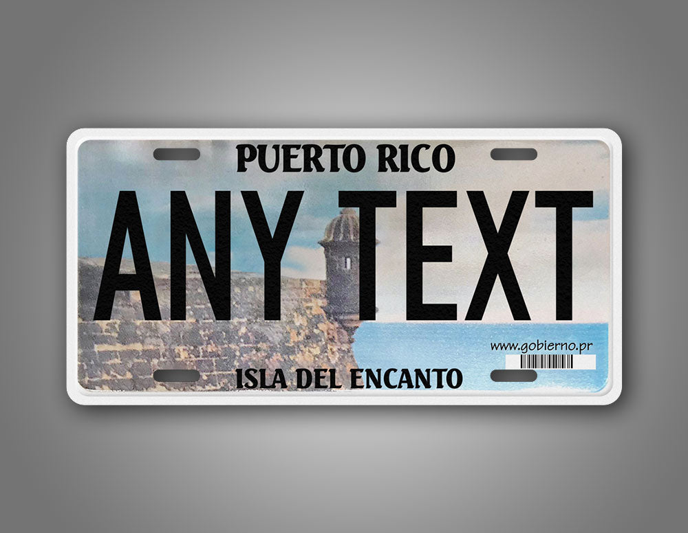 Any text Custom Puerto Rico Novelty License Plate