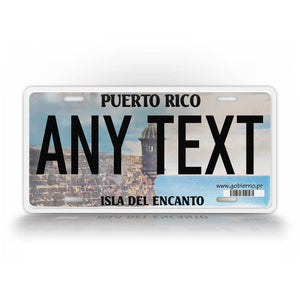 Custom Text Puerto Rico Novelty License Plate Isla Del Encanto