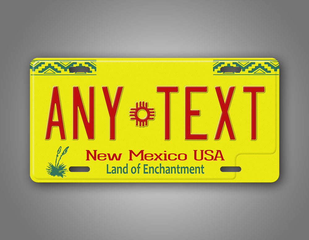 Any Text New Mexico Personalized Auto Tag