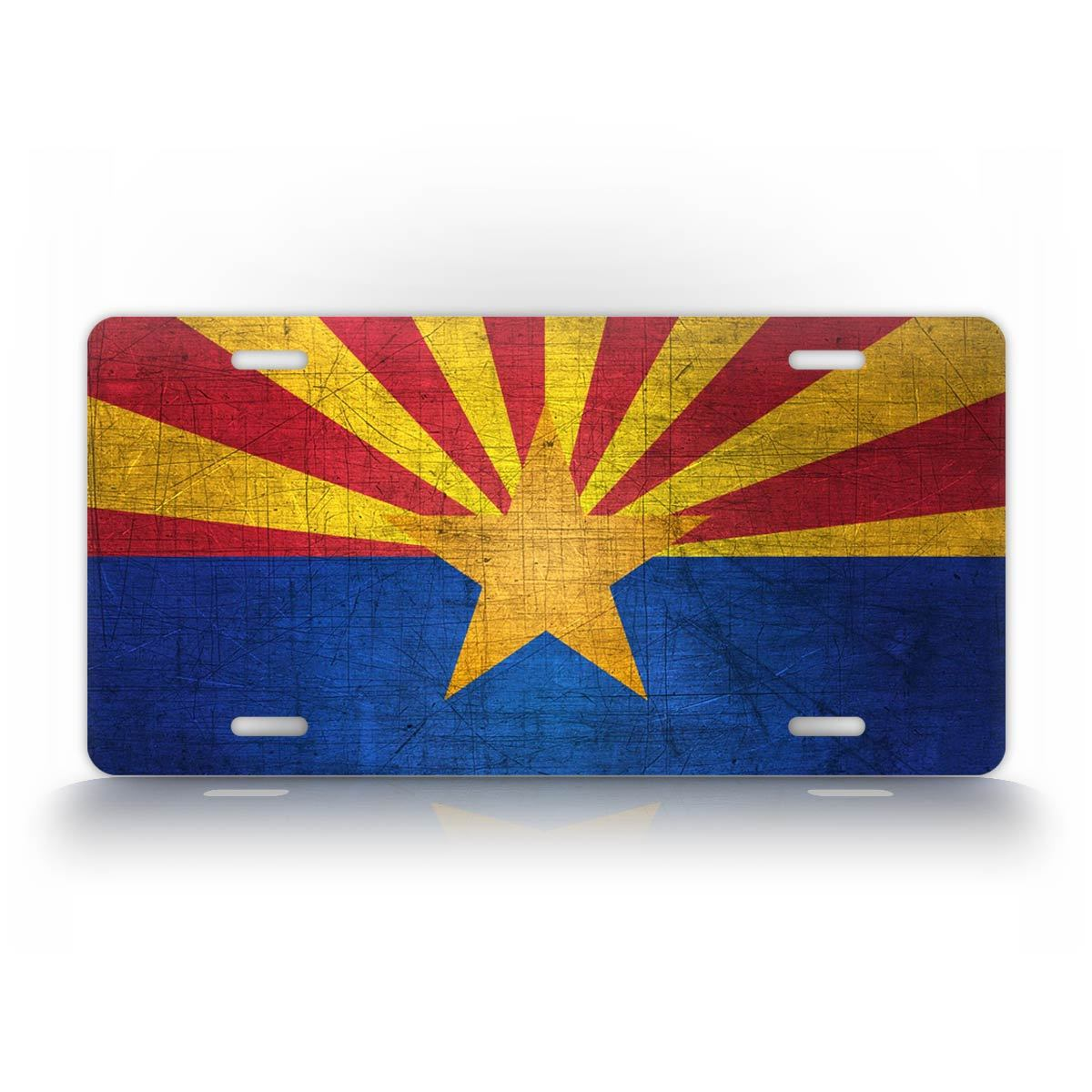 Arizona Flag Vintage Americana License Plate