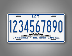 Personalized Text Australia Canberra Bush Capital Auto Tag