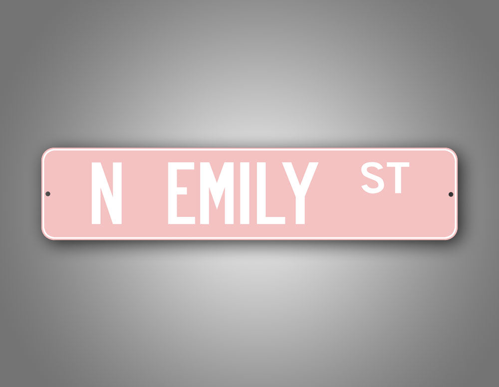 Personalized Any Text Baby Pink Street Sign