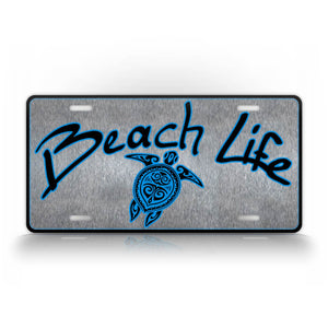 Beach Life Sea Turtle License Plate