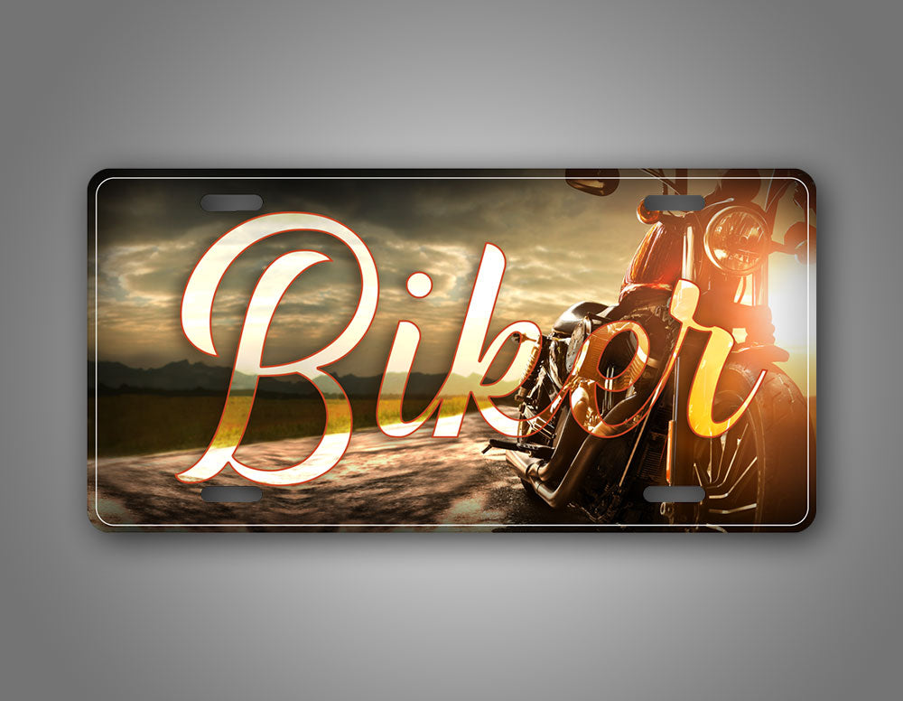 Biker Motorcycle Photo License Plate