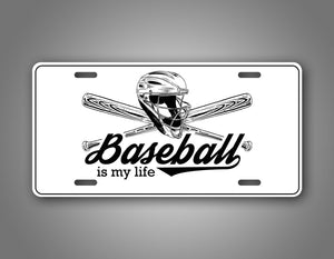 Baseball Is My Life base Ball Lover Auto Tag