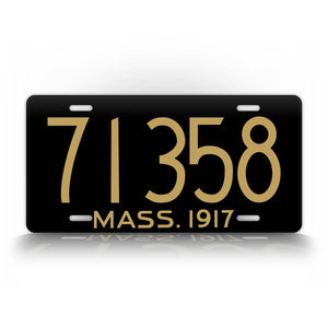 Massachusetts Custom Any Text 1917 Auto Tag