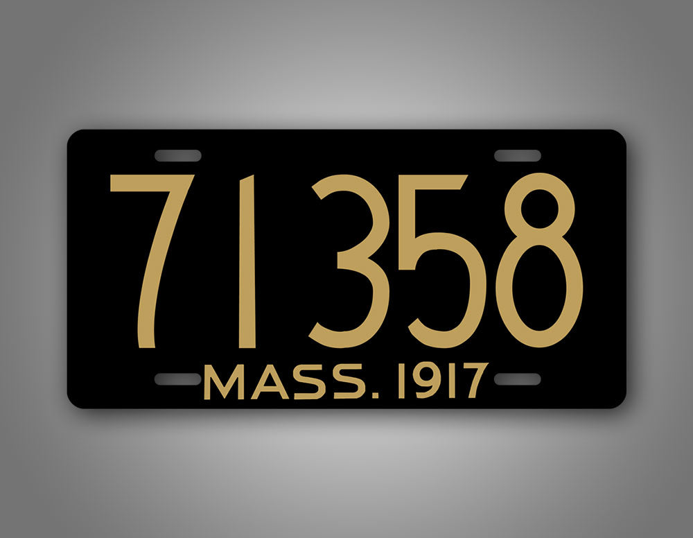 Massachusetts Mass Custom Any Text 1917 License Plate