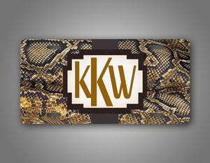 Custom Brown Boa Constrictor License Plate