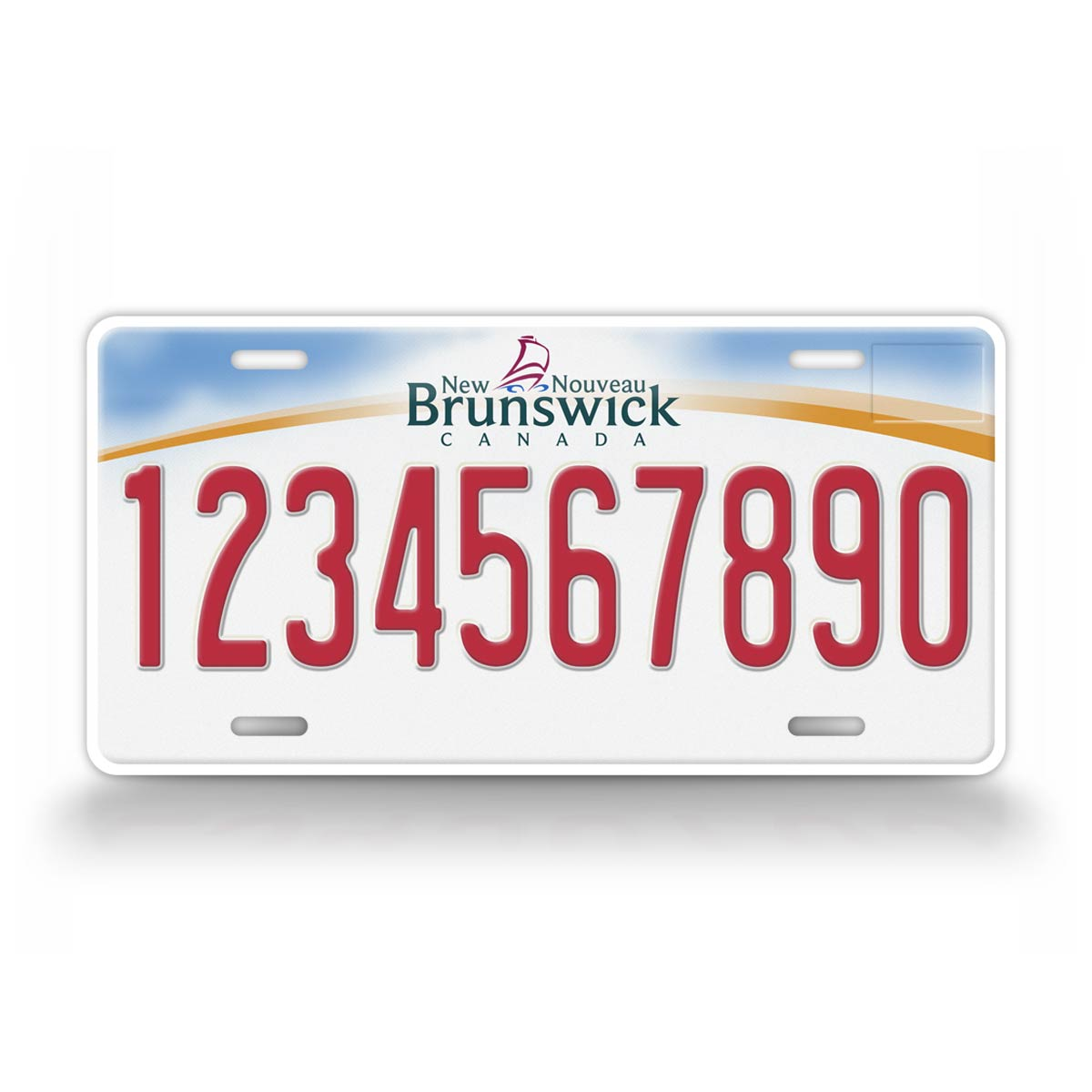 Personalized Text New Brunswick New Nouveau License Plate
