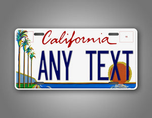 Personalized Custom California Palm Trees License Plate Auto Tag