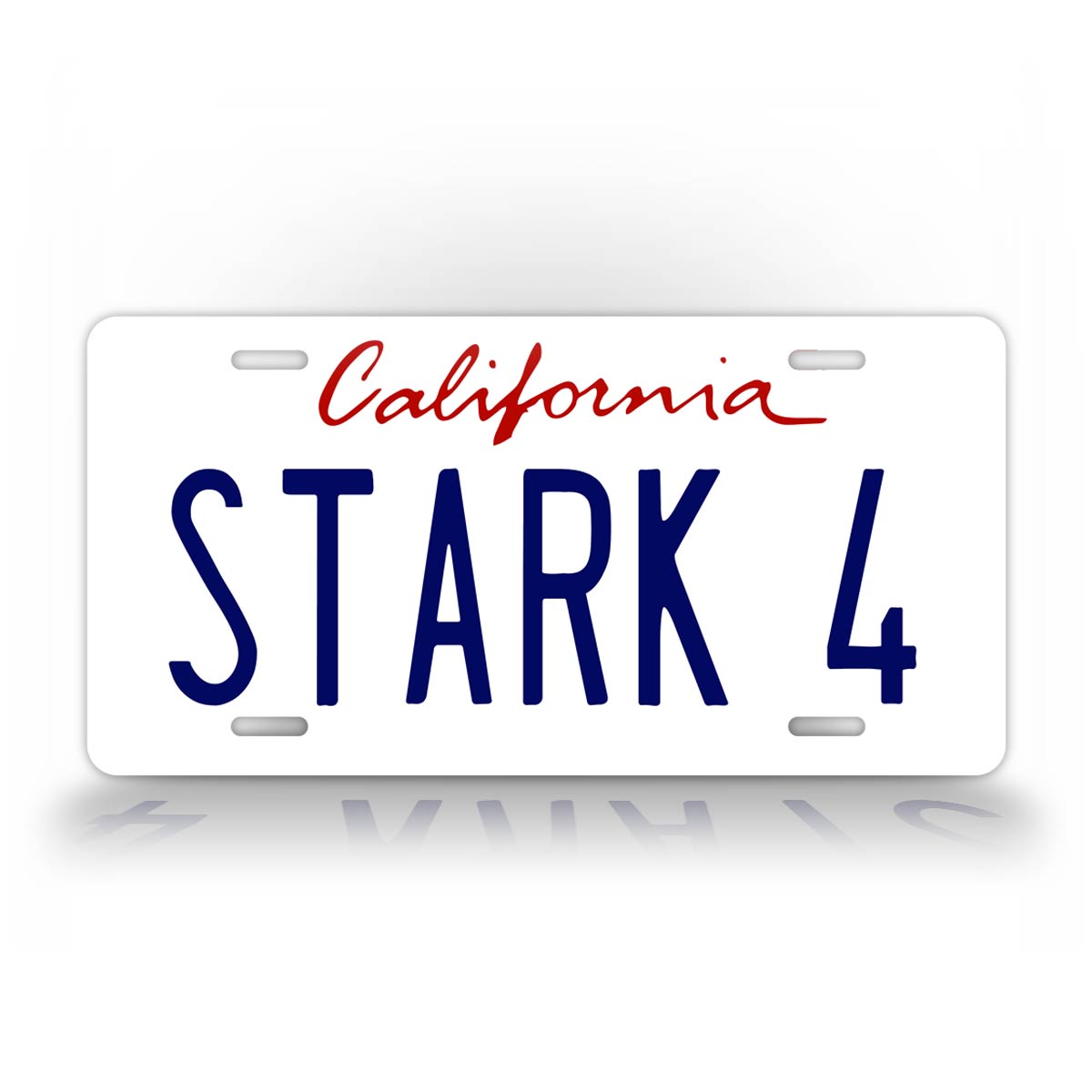 California Stark 4 Iron Man License Plate Marval Auto Tag