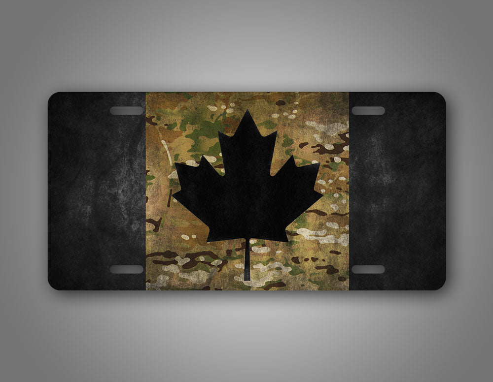 Camo Canadian Flag Auto Tag