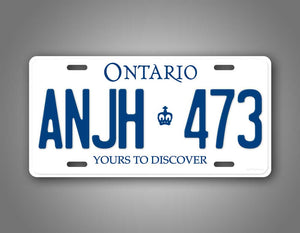Personalized Ontario License Plate