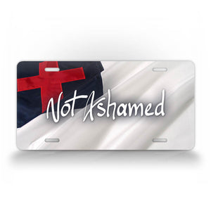 Christian Not Ashamed License Plate Christian Flag Auto Tag