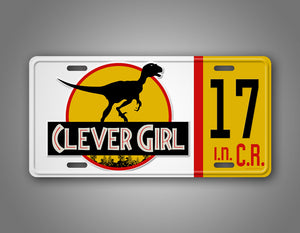 Personalized Clever Girl Dinosaur Jeep Jurassic License Plate