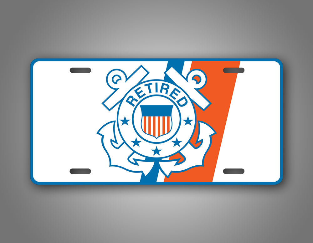 Coast Guard Anchors Retired Veteran License Plate