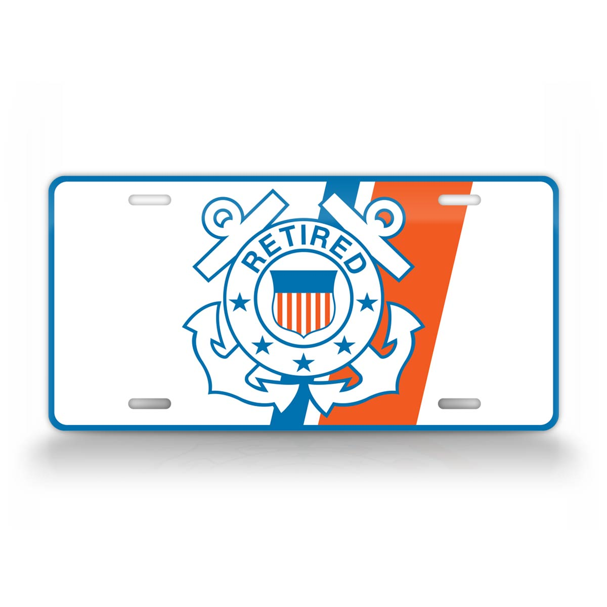 U.S. Coast Guard Veteran Retired License Plate