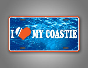 I Love My Coastie Ocean Photo License Plate