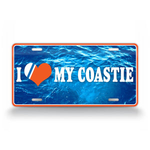 I Love My Coastie Coast Guard Sweetheart License Plate