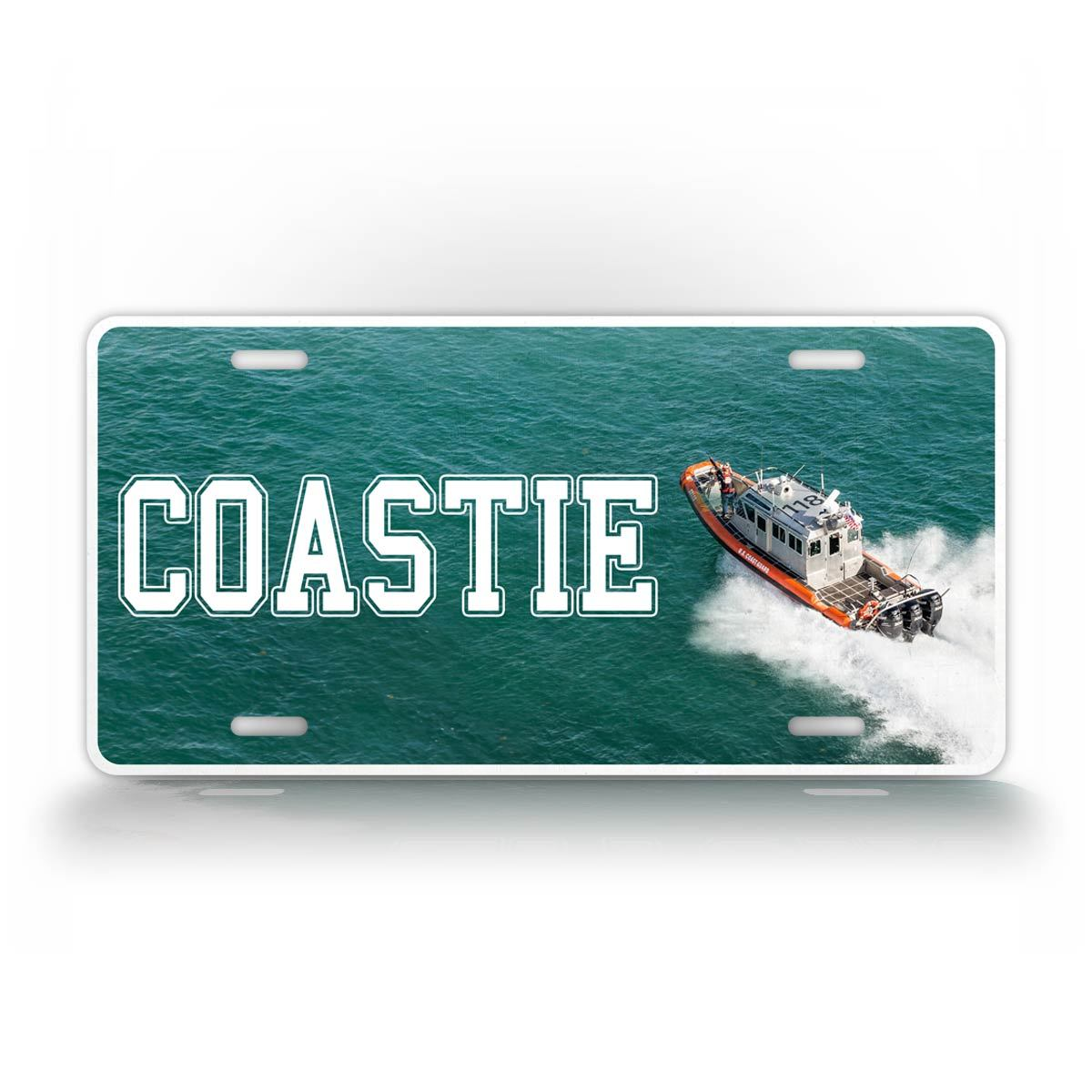 Coast Guard Veteran License Plate Coastie Boat USCG License Plate
