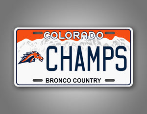 Personalized Text Denver Broncos Novelty Auto Tag